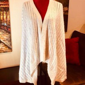 Lou & Grey Cream colored cozy Sweater Wrap